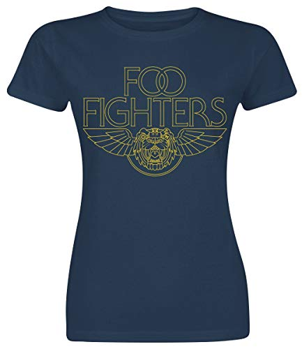 Foo Fighters Tiger Wings Camiseta Azul Marino S