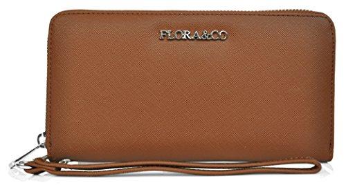 Flora & Co - Paris ,  Damen Damen-Geldbörse, Braun - camel - Größe: S