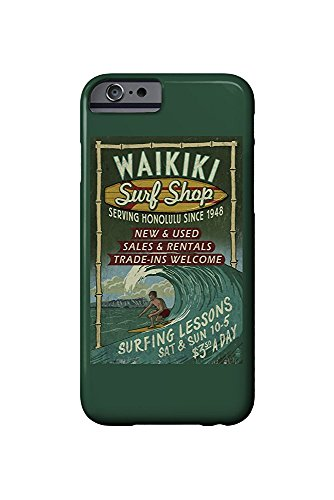 Waikiki Surf Shop, Hawaii - Surf Shop VIntage Sign (iPhone 6 Cell Phone Case, Slim Barely There)