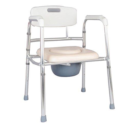 PIGE Bedside WC-Sitz Soft Sitz/ältere Kommode Adult Mobil WC-Sitz WC Stuhl Bad Stuhl Schwangere Frauen Kommode Stuhl Weiß - Wc-sitz-kommode
