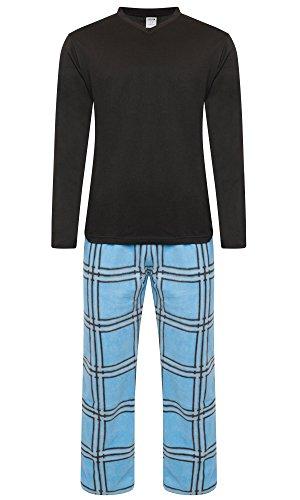 Pijama para hombre, forro abrigado