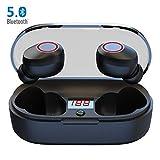 Auriculares Bluetooth Abeyete Auriculares Inalámbricos Mini Twins Stereo Auriculares Estéreo In-Ear Manos Libres con Micrófono para iOS y Android, con Caja de Carga Portátil