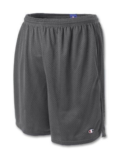 Champion Long Mesh Mens Shorts with Pockets, XXL-Granite