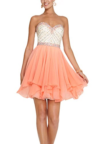 Bridal_Mall - Robe de mariage - Trapèze - Femme Orange fluo