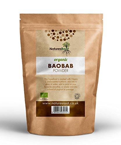 Natures Root Poudre de Baobab Bio 250g - SUPERALIMENT   VEGETALIEN   VITAMINE C...