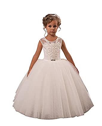 Princhar Ivory Full Flower Girl DressJunior Bridesmaids ...