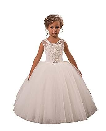 Princhar Ivory Full Flower Girl DressJunior Bridesmaids ... - photo #8