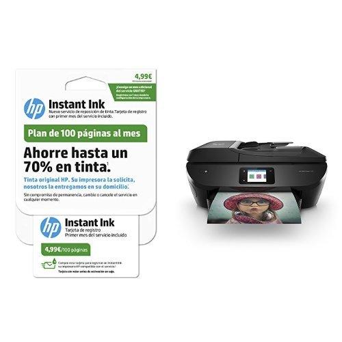 HP Envy Photo 7830 – Impresora multifunción inalámbrica, color negro + HP Instant Ink - Tarjeta de 100 páginas