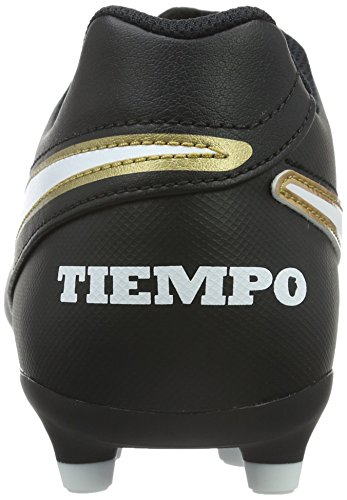 Nike Tiempo Rio Iii Fg, Chaussures de Football Homme, Rouge, UK Noir / Blanc / Or (Noir / Blanc-Metallic Gold)