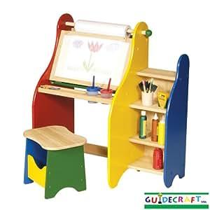 guidecraft kinder staffelei malstation spielzeug. Black Bedroom Furniture Sets. Home Design Ideas