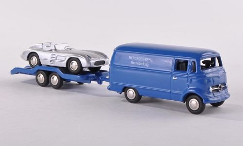 Preisvergleich Produktbild Mercedes L319 Kasten/Hänger/MB 300SLR , Modellauto, Fertigmodell, Bub 1:87