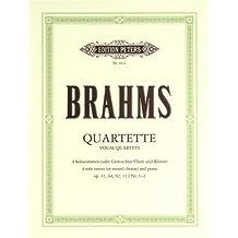 Quartette für vier Solostimmen und Klavier op. 31, 64, 92, 112/1,2: oder gemischten Chor