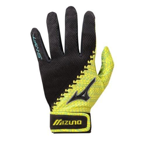 Mizuno Swift Softball Batting Handschuhe, Herren, blau/gelb -