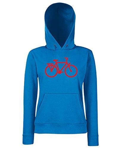 T-Shirtshock - Sweats a capuche Femme SP0118 Old Bike Maglietta Bleu Royal