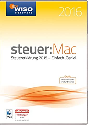 WISO steuer:Mac 2016 (für Steuerjahr 2015 / Frustfreie Verpackung)