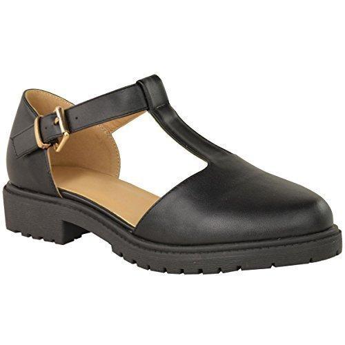 Sandales style écolière à découpes et semelles épaisses pour femmes