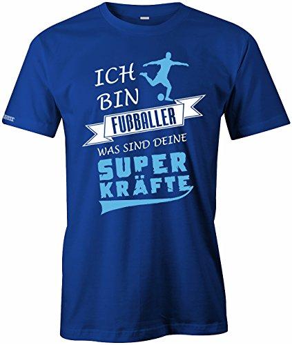 Jayess Ich Bin Fussballer was Sind Deine Superkräfte - Herren T-Shirt Royalblau