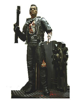 Terminator 238,1cm Statue Figur & Light bis Boden
