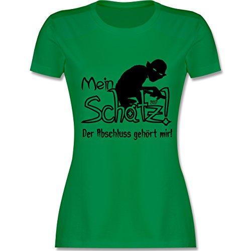 Abi Abschluss Abschluss 2017 Mein Schatz tailliertes Premium TShirt mit  Rundhalsausschnitt für Damen Grün