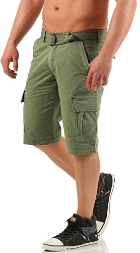 GRÖßE  32 malito Herren Bermuda Shorts in unterschiedlichen Ausführungen    kurze Funktionshose   ¾ Cargo Hose - Freizeithose ... e395c8540c