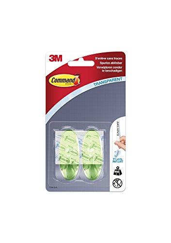 en M (Größe M, 900g) 2 Haken + 4 Strips, transparent/grün (Ornament-haken)