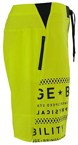 Reebok-OS-LTWT-Short-Crossfit-Mens-Speedwick-Function-Board-Shorts-Yellow