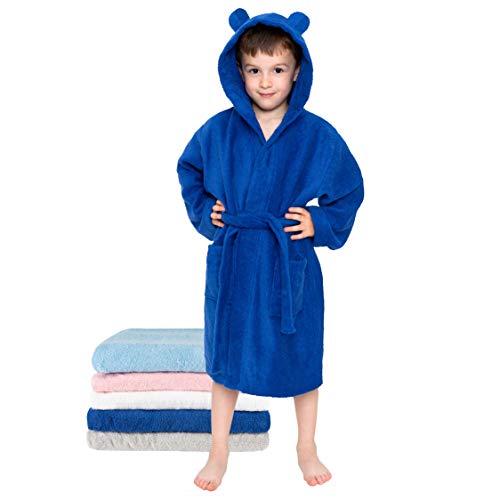 Batas Niños, Bebé, Niña, Niño, Talla 3-4 años 98-104cm, Azul Marino, Sin Productos Químicos...