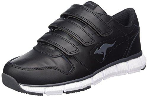 KangaROOS Unisex-Erwachsene K-Bluerun 700 V B Sneaker, Schwarz (Black/Dk Grey 522), 36 EU