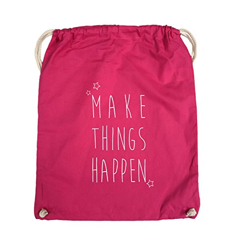Turnbeutel Pink THINGS Weiss Bags Comedy Pink Farbe MAKE Schwarz HAPPEN 37x46cm x6F6pIwz