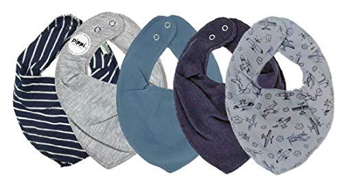 Accessoires Pippi Halstuch 3er Set Baby Halstücher Dreieckstücher Lätzchen Farbe Blau und Grau One Size 4449 Halstücher