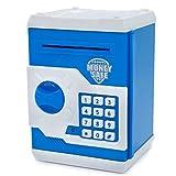 Elektronische Spardose von Apuppy, Cartoon-Passwort Sparschwein, Spielzeug, Geschenk zum Geburtstag Geschenke für Kinder weiß/blau