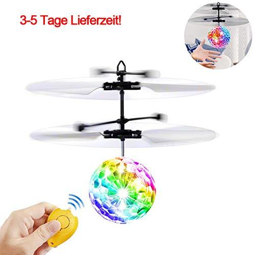 MAGICE RC Fliegender Ball Infrarot Induktions Hubschrauber, Spielzeug Drohne mit bunt leuchtendem LED-Licht, Geschenke für Kinder I Jungen und Mädchen, Indoor-und Outdoor-Spiele (mit Fernbedienung)