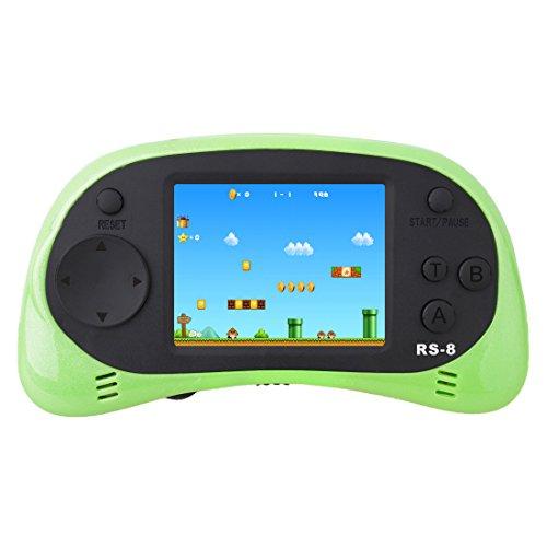 ZHISHAN Kids Classic Retro Handheld videoconsola consola de juegos 2,5'LCD 8 bits 260 en 1 juegos (Verde)