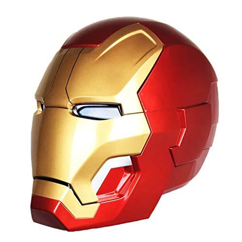 QWEASZER Marvel Iron Man Elektronischer Helm Avengers: Endgame Iron Man Maskenhelm COS Halloween Helmet Props 1: 1 Rüstung tragbarer Helm,Avengers Iron Man-0~62cm
