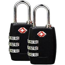 THEE 2pcs TSA Candados de Equipaje Accesorios de Viaje de Seguridad
