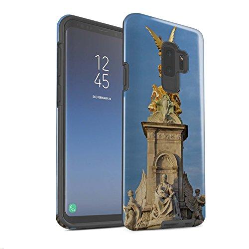 Stuff4® Glanz Harten Stoßfest Hülle/Case für Samsung Galaxy S9 Plus/G965/Victoria-Denkmal Muster/Seiten London Kollektion