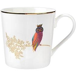 Sara Miller para Portmeirion Piccadilly mug-owl, cerámica, Multi Color, 9,5x 11,5x 95cm