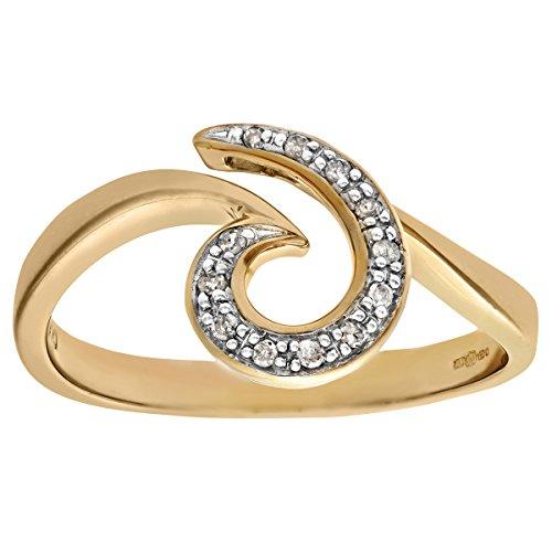 Naava in oro giallo 9 kt con diamanti Anello, Oro giallo, 14,5, cod. PR06368(O)