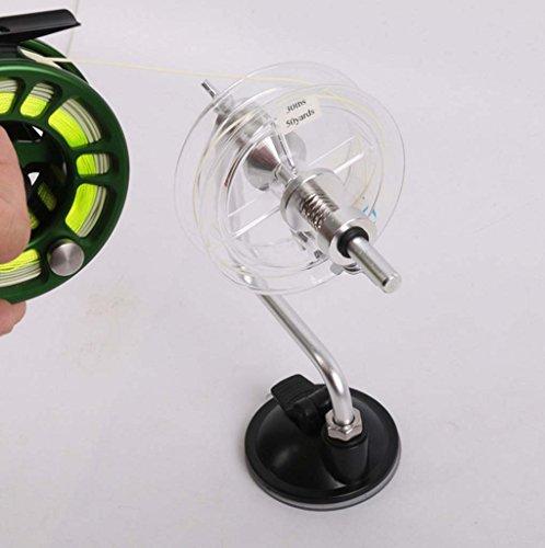 Sharplace Angelausrüstung Schnurspulgerät mit Saugnapf Haspel Handhaspel Angelschnur Spool Spooler System