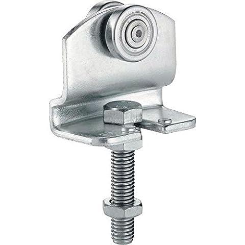 GedoTec® Schiebetürbeschlag Helm Agrar Rollapparat Laufwerk für Laufschienen Schiebetor Profil 300 | Rollapparat 372 | Stahl verzinkt | Markenqualität für Ihren Wohnbereich