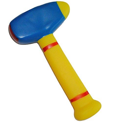 """Gummihammer / Softhammer - """" BLAU """" - für Baby´s - Hammer weicher Gummi Babyhammer / Kinderhammer - weich Babyspielzeug Hammerspielzeug - Spielwerkzeug - Badefiguren - lustiges Werkzeug / Badetiere - Badewanne - Kinderwerkzeug Badewannenspielzeug Baby´s - auch für Hunde geeignet / Gummifigur Gummi - Hundespielzeug / Hund - Topfschlagen"""