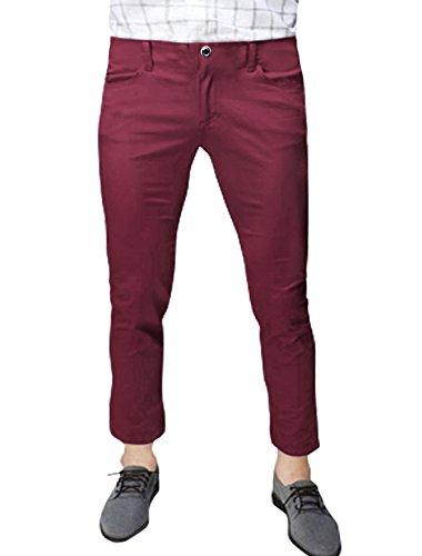 sourcingmap Hommes Taille Moyenne Poches En Biais Décontracté Pantalons Courts Rouge