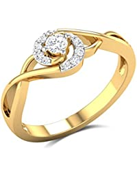Zaamor Diamonds 18k (750) Yellow Gold And Diamond Enat Ring
