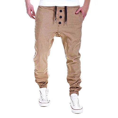 Beikoard stock abbigliamento leggings per allenamento di fitness per uomo fitness sport gym running yoga athletic casual jogger dance sportwear pantaloni larghi(khaki,xl)
