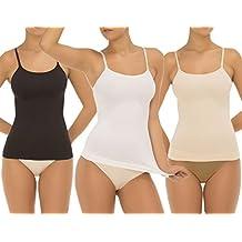 UnsichtBra Pack de 3 Camisetas interiores para mujer