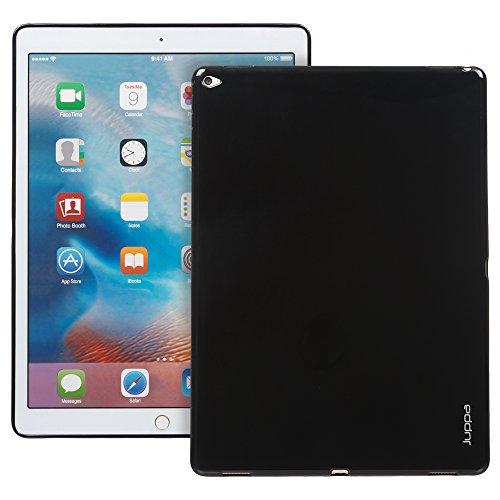 Juppa® Apple iPad Pro 12,9 Zoll 2015 TPU Silikon Tasche Hülle Schutzhülle mit LCD displayschutzfolie und Mikro-Reinigungstuch - Schwarz / - Lg Gel 7 Tablet Case