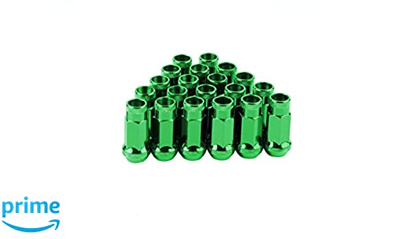 RPC CPR Close Ended Spline Steel Wheel Lug Nuts 20Pcs With Key M12X1.25 Gold