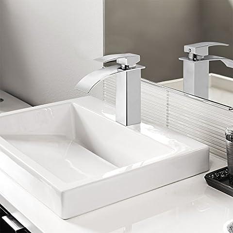 Aquamarin Waterfall Single Lever Bathroom Sink Faucet Wash Basin Tap Different Model (Model 7)