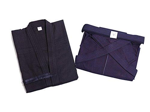 Zooboo Martial-Arts-Uniform für Herren, Kendo/Aikido/Keikogi/Hakama - Dark Blue & Dark Blue