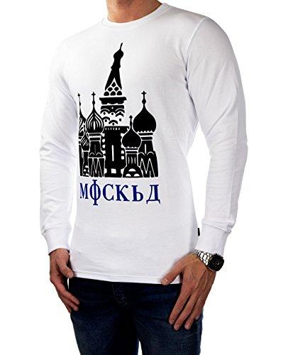 JACK & JONES Herren Sweatpullover jcoREWARD Sweatshirt Langarmshirt Pulli 2376 Weiß (White Fit:REG)